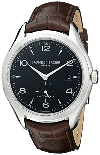 baume-et-mercier-automatisch-edelstahl-leder-mercier-clifton-baume-stahl-schwarz-brown-wahlschalter-