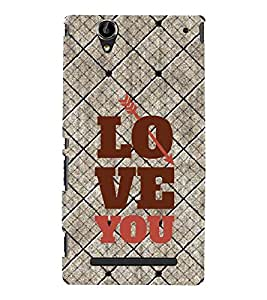 Fuson Premium Back Case Cover I love you With red Background Degined For Sony Xperia T2 Ultra::Sony Xperia T2 Ultra Dual