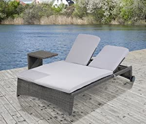 twin outdoor doppelliege garten. Black Bedroom Furniture Sets. Home Design Ideas