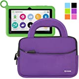 Evecase OLPC XO 7-inch Kids Tablet Neoprene Sleeve Case, Slim Briefcase w/ Handle & Accessory Pocket / Ultra Portable Travel Carrying Case Sleeve Portfolio Pouch Cover - Purple