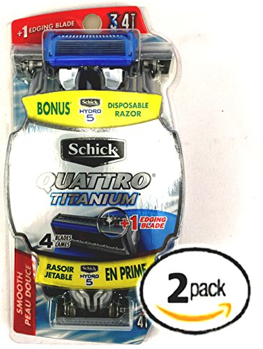 pack-of-2-schick-quattro-titanium-4-blade-razors-with-edging-blades-3-pack-with-bonus-5-blade-razor-