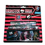 Monster high set stationery kit, pencils, pens, business school Mattel Monster High