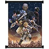 """1 X Kingdom Hearts Birth By Sleep Game Fabric Wall Scroll Poster (16""""x21"""") Inches"""