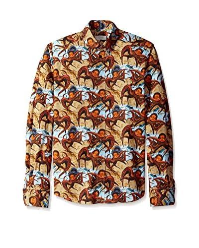 Eton Men's Slim Fit Patterned Sportshirt