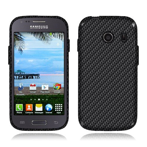 NextKin Samsung Galaxy Ace Style S765C Stardust S766C Case, Flexible Slim Silicone TPU Skin Gel Soft Protector Cover - Black Carbon Fiber (Galaxy Ace Style Silicone Case compare prices)