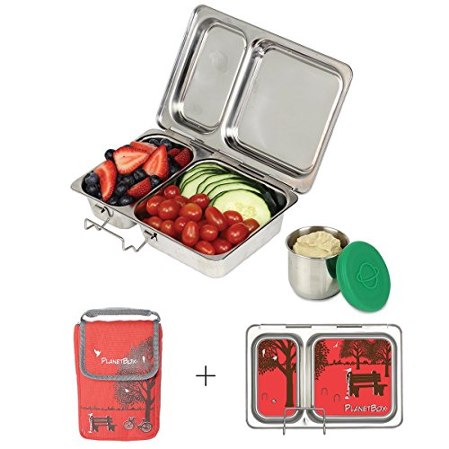 PlanetBox Shuttle Lunchbox - Complete Set (Red Day in the Park)