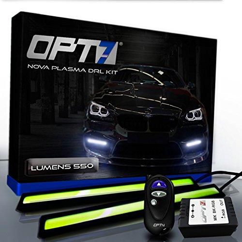 Opt7® Nova Plasma Drl Light Bars With Remote - (550 Lumens) 17Cm Cob Daytime Running Light White
