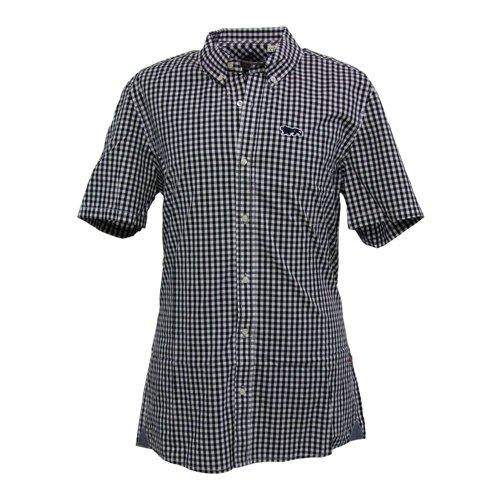 Lonsdale Slim Fit Camicia Manica Corta Richy Nero/Bianco M (UK S)