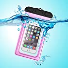 Waterproof Case, Waterproof Pouch, iThrough Ultra Universal Waterproof Pouch, Waterproof Case with Touch Responsive Transparent Screen Protector for iPhone 6/6 Plus/5/5s/5c/4/4s/Samsung Galaxy S3/S4/S5/Note 2/3/4 (Pink)