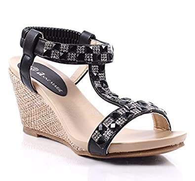 Beautiful Strap Wedges Sandals Pump Platform Womens High Heels Shoes New Without