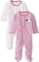 Gerber Baby-Girls' Newborn Two Pack Sleep N Play Zip-Front Sleeper