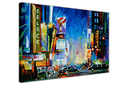 "Broadway New York von Leonid Afremov Leinwand Wandbilder Kunstdruck gerahmt New Modern Decor, canvas, 01- A4 - 12"" X 8"" (30CM X 20CM)"