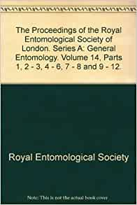 the proceedings of the royal entomological society of london series a general entomology. Black Bedroom Furniture Sets. Home Design Ideas