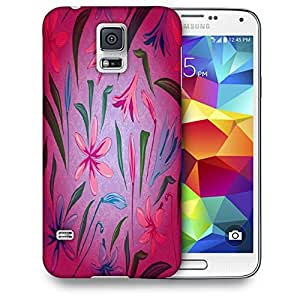 Snoogg Colorful Petals Printed Protective Phone Back Case Cover For Samsung S5 / S IIIII