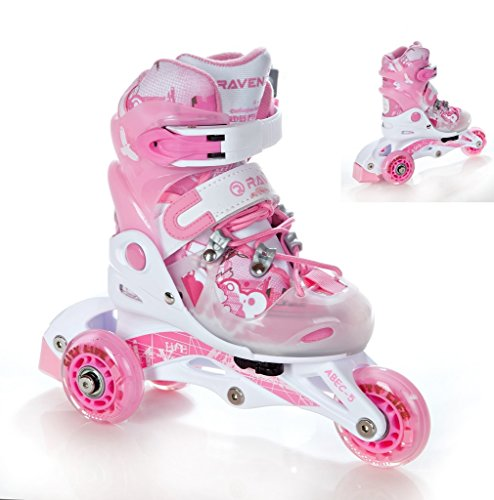 2in1 kinder inline skates triskates rollschuhe raven princess. Black Bedroom Furniture Sets. Home Design Ideas
