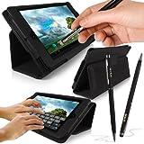 """G-HUB - ASUS MeMO Pad 10"""" Tablet Case (Etui / Housse) - NOIR avec PropUp Stand (support intégré) pour ASUS MeMO Pad 10"""" Tablette ME301T - CADEAU: ProPen Stylus (Stylet & Stylo)"""