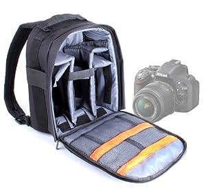 Sac à dos résistant à l'eau pour appareils photos SLR / reflex Nikon D7000, D600 et D5200 - poignée et lanières rembourrées