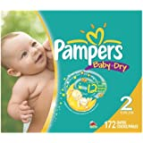 Pampers Baby Dry Diapers Size 2 Giant Pack 172 Count