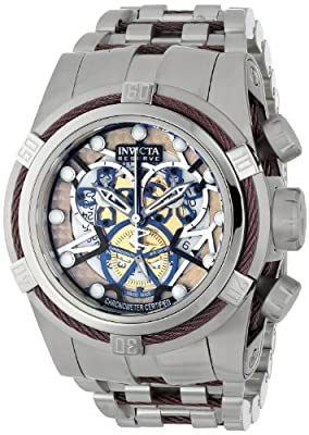 Invicta Men's 13750 Bolt Reserve Chronograph Gold Tone and Rose Dial Stainless Steel Watch