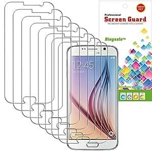 Film Protection Samsung Galaxy S6,Bingsale Pack de 8 Films de Protection d'écran pour Samsung Galaxy S6 (Samsung Galaxy S6, Pack de 8 Films)