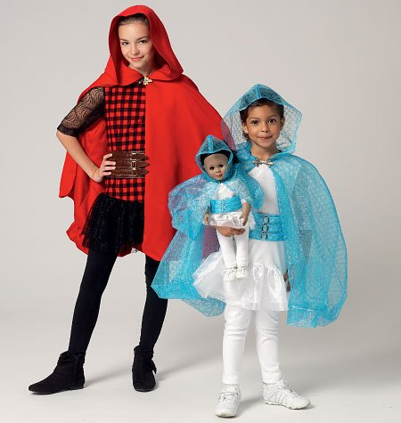 MCCALLS GIRLS'/18 INCH DOLLS' COSTUME SEWING PATTERN