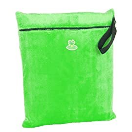 GO-FLUFF Minky Wet Bag (Green)  13 x 14.75 inches