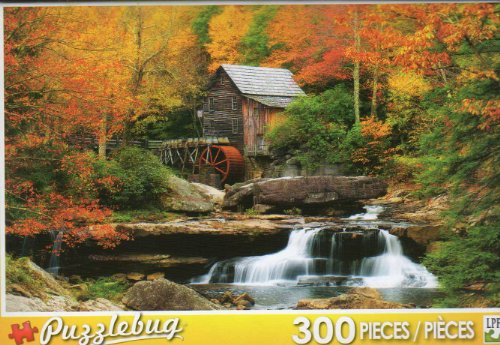 Glade Creek Mill - Babcock State Park - 300 Pc Jigsaw Puzzle - NEW by Puzzlebug - 1