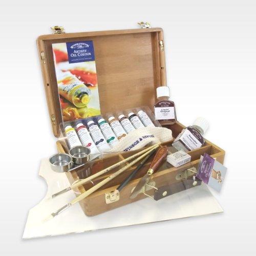 Winsor  &  Newton Artists' Oils Bamboo Boxset
