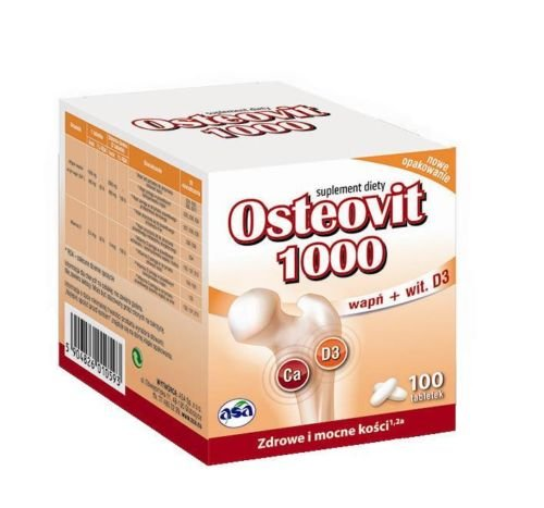 Osteovit 1000 - 100 Tablets - Calcium - Strong Bones Free Shipping