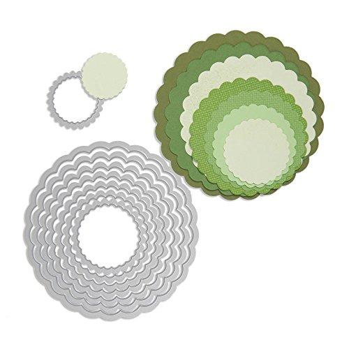 Sizzix Framelits Die Set 8Pk - Circles, Scallop