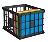 OfficeMax File Crate, Black