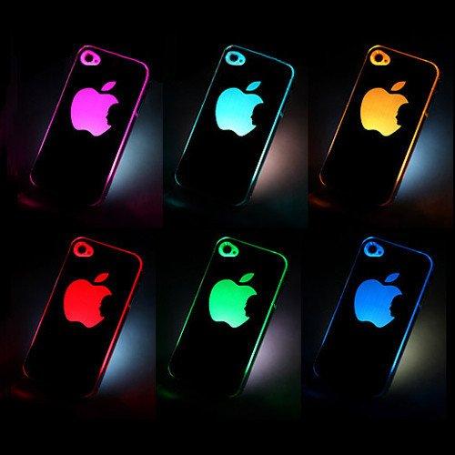 1 Pcs Sense Flash Light Led Hard Case For Iphone 5 5S - 6 Color Changed