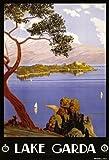 TA26 Vintage 1920's Lake Garda Italian Italy Travel Poster Re-Print - A3 (432 x 305mm) 16.5