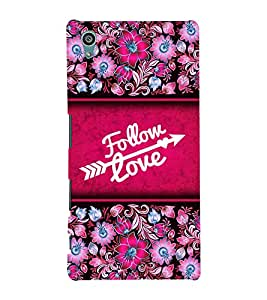 Follow Love 3D Hard Polycarbonate Designer Back Case Cover for Sony Xperia Z5 :: Sony Xperia Z5 Dual (5.2 Inches)