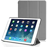 iPad Air 2 Hülle - MoKo Ultra Slim Kunstleder Schutzhülle Leder Hülle Tasche Ledertasche Etui Smart Case Cover mit Standfunktion Auto Sleep/Wake up Funktion für Apple iPad Air 2/iPad 6,GRAU