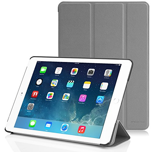 Apple iPad Air 2 Case - MoKo Ultra Slim Lightweight Smart-shell Stand Cover Case for Apple iPad Air 2 (iPad 6) 9.7 Inch iOS 8 Tablet, GRAY (with Smart Cover Auto Sleep / wake)