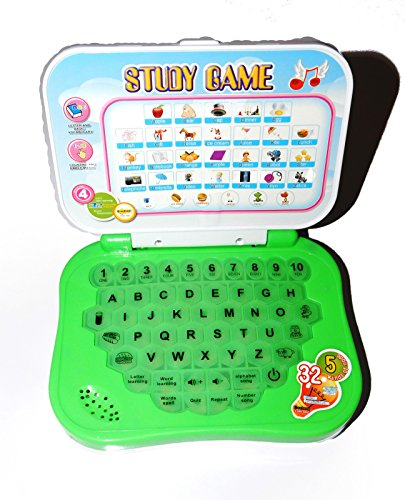 Reckonon Plastic ABC And 123 Learning Kids Mini Laptop Study Game