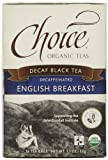 Choice Organic Teas, Decaf Black Tea, Decaffeinated English Breakfast, 16 Tea Bags, 1.1 oz (32 g)