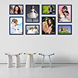 Elegant Arts & Frames High Quality PVC Group Collage Photo Frame Set Of 8 Blue