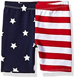 The Children\'s Place Baby Americana Bike Short, Multi Color, 12-18 Months