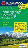 Tennengebirge - Hochk�nig - Hallein - Bischofshofen: Wanderkarte mit Aktiv Guide, alpinen Skirouten und Radrouten. GPS-genau. 1:50000