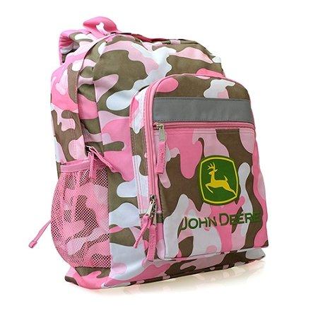 John Deere Pink 16 inch Backpack FTK936Z - 1