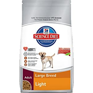 Hill's Science Diet Adult Light Large Breed Dry Dog Food Bag, 33-Pound