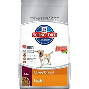 Hill's Science Diet Adult Light Large Breed Dry Dog Food, 17.5-Pound Bag
