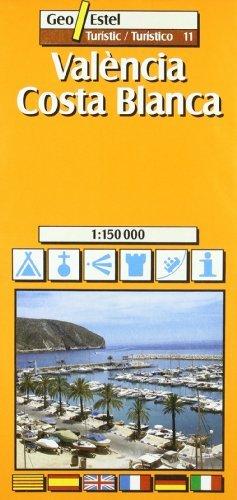 Valencia - Costa Blanca (Valencia / Alicante) Tourist Map 1:150, 000 (Tourist Maps) by Geo Estel (2002-01-01)