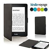 Kindle Voyage スマートスリムーケース 液晶保護フィルム付き 【オートスリープ機能】 (Voyage, ブラック)