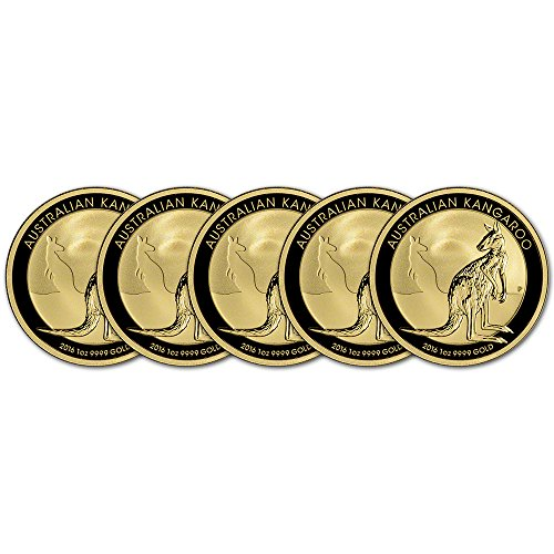 AU 2016 Australia Gold Kangaroo (1 oz) FIVE (5) Brilliant Uncirculated