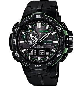 Casio Men's PRW-6000Y-1ACR Pro Trek Analog-Digital Display Quartz Black Watch