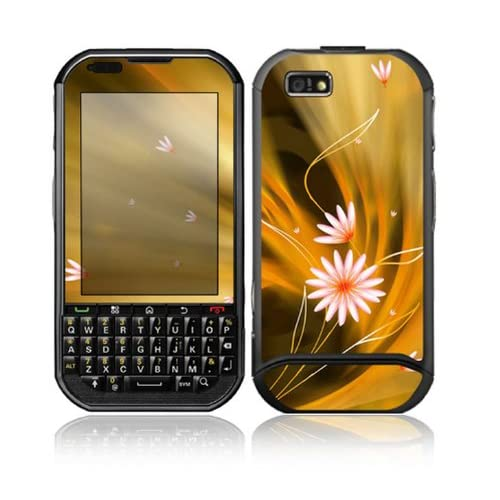 Flame Flowers Design Protective Skin Decal Sticker for Motorola Titanium EX115 Cell Phone