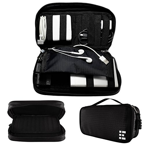 Travel Electronics Organizer - Universal Gadget Cord & Cable Case (Box Organizer Insert compare prices)